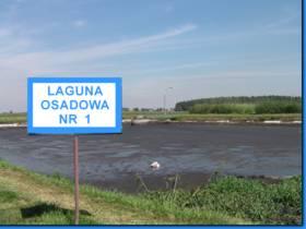 Zdjęcie przedstawiające zbiornik Laguna Osadowa Nr 1