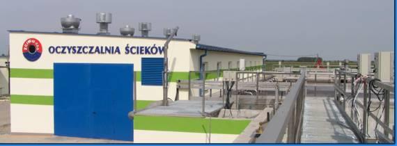 Zdjęcie budynku Oczyszczalni Ścieków.